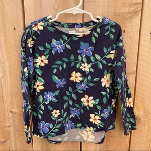 Old Navy size S 6-7 floral long sleeve tee shirt